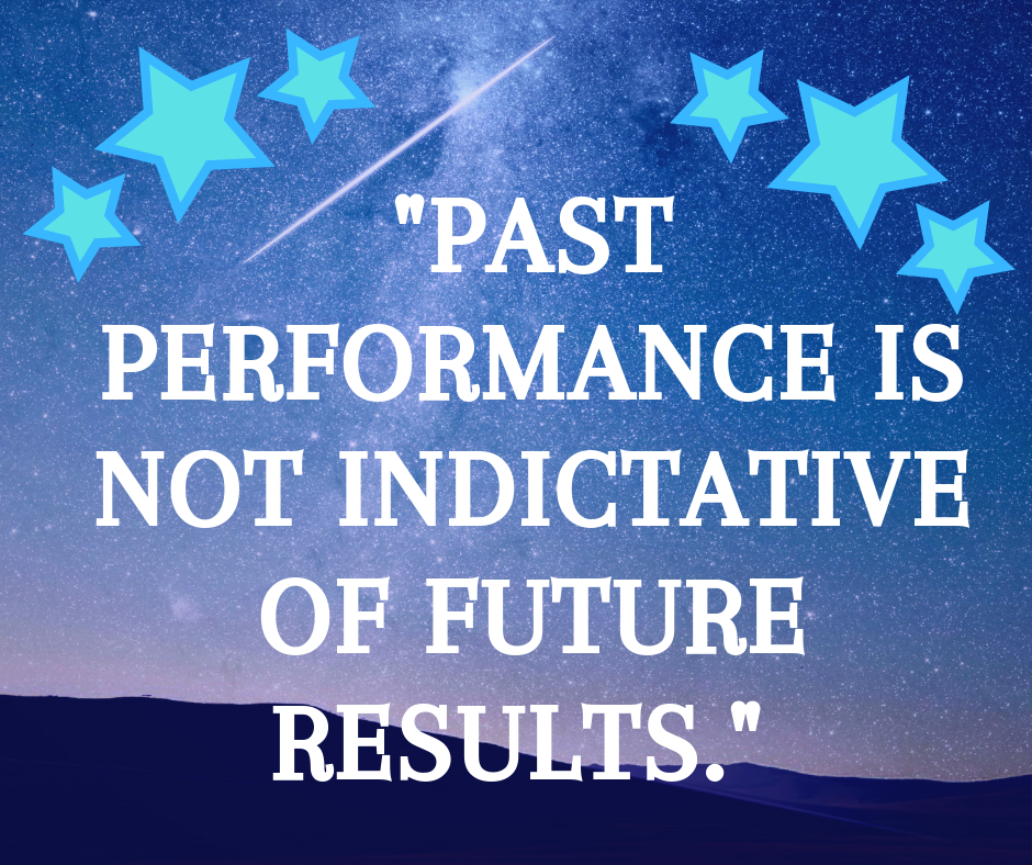 Past performance is not indicative of of future results